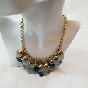 Talbot's Blue Green Statement Piece Necklace